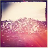 Pile of Garbage with instagram effect