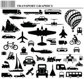 picture of motor coach  - Modes of transportation graphic collection individually layered - JPG