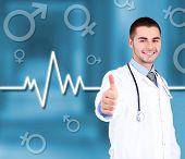 Doctor on hospital background