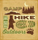 Hiking Camping Design Elements Collage