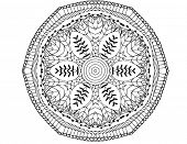 Zentangle pattern on white background
