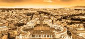 Saint Peter's Square in Vatican, Rome, Italy.