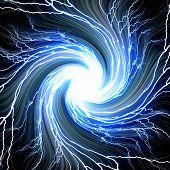 Digital Backgroundelectric Flash Of Lightning On A Blue Background