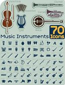 image of drum-set  - Extensive music instruments icons collection organized by type - JPG