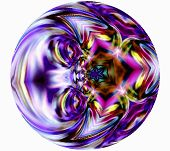 Geometric Abstract Ornament Pupil Fabulous Dragon. Play Sentiments. Violet.  A-0179.