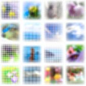 Set of dots abstract backgrounds. Vector illustration. Eps8.