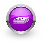 money pink glossy web icon