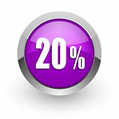 20 percent pink glossy web icon