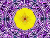 Creative Background. A Wonderful Harmony Of Colors. Purple-yellow Tone.  A-0223.