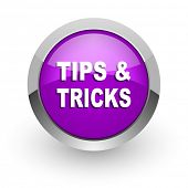 tips tricks pink glossy web icon