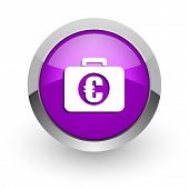 financial pink glossy web icon