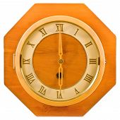 Wall wood retro clock.