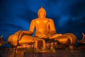 Big Golden Buddha At Wat Muang In Ang Thong, Thailand