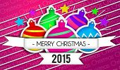 Baubles Merry Christmas Art Paper 2015 Purple Background