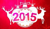 Paper Art 2015 Ornament Decorative Red Background