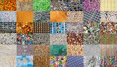 Mosaic From Natural And Handmade  Textures