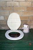 Rural Outhouse Toilet Bowl