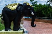 Elephant Statue In Thai Temple