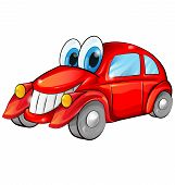 Happy Car Cartoon