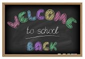 Back to school poster. Chalkboard effect.