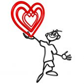 Doodle GuyZ feliz día de San Valentín corazón