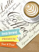 Fresh Brewed Coffee Poster