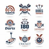 Darts icon set