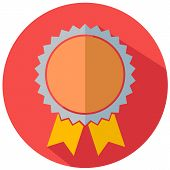 Flat icon of award