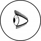 eye side-view symbol