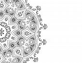 Vector Zentangle pattern on white background
