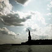 Instagram filtered style image of the Statue of Liberty
