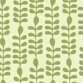 Acacia Leaves Seamless Pattern