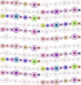 Abstract Seamless Colorful Floral Image - On White