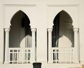 Wondow of Alwi Mosque in Kangar