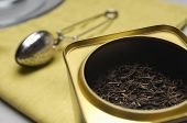 Tea box and strainer