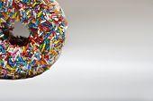 image of jimmy  - Rainbow sprinkles on doughnut - JPG