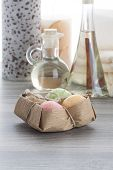 Soap Balls With Coffee Candle And Cinnamon Massage Oil