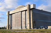 TUSTIN, CALIFORNIA - MAY 15, 2013: Blimp Hangar 1 at the former MCAS, Tustin, CA. The massive concre