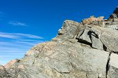 Natural landscape of stone rock with clear blue sky