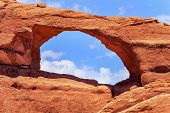 Red Brown Skyline Arch Rock Canyon Arches National Park Moab Utah