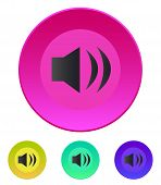 Speaker icon. Volume max. Vector illustration.
