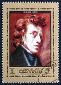 Postage Stamp Ajman 1972 Frederic Chopin, Polish Composer