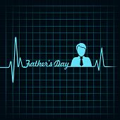 happy father days creative medical greeting concept vector