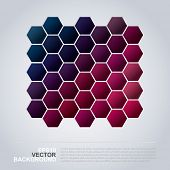 Hexagons Pattern - Abstract Mosaic Background Design