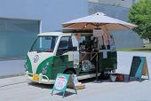 Cute mobile cafe