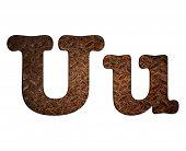 Letter U Rusty Metal.