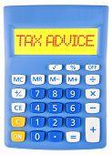 Calculator With Tax Advice On Display