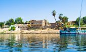 stock photo of nubian  - The traditional Nubian village located on the Kitchener - JPG