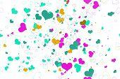 Retro valentine seamless pattern with hearts.