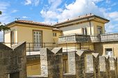 The Picturesque House Near The Fortress Wall In San Marino